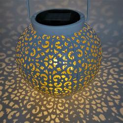 Simva LED Laterne Outdoor Solar Power Hängelampe Garten Rasen Landschafts Licht, Hängelampe Hollow Solar LED Iron Art Laterne Licht Solar LED Garten