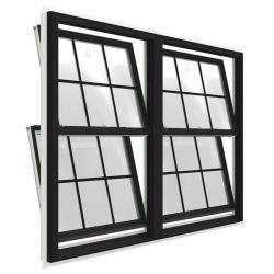 파우더 코팅된 알루미늄 더블 웅 슬라이딩 윈도우/싱글 웅/슬라이드 윈도우 더블 절연 처리된 하우스/스낵 바/미국식 저음실 유리 스타일