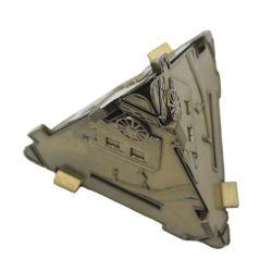 Fabricante de souvenirs de latón en forma de pirámide de Metal magnético personalizado con adornos de logotipo en 3D.