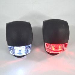Linli 2 paquetes de silicona promocional impreso el logotipo personalizado Luz LED Bicicleta, Mini Lampara De Bicicleta, parte delantera y trasera Luz LED para Bicicleta