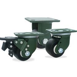 블레이크 플라스틱 제품 나일론 로우 프로파일 헤비듀티 휠체어 휠 트롤리 휠로 캐스터