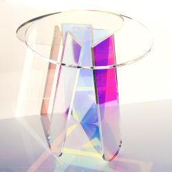 工場現代明確なアクリルのコーヒーテーブルの世帯の虹色のコーヒーテーブル