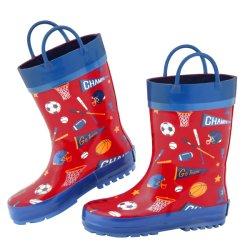 أحذية كاريكاتير الأطفال غير منزلقة المطاط المقاوم للمياه في الهواء الطلق حذاء أحذية