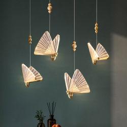 ديكور منزلى داخلى مصمم ثريات متدلية معلقة ثريات ديكور بسيطة مصباح بندول الفراشة LED