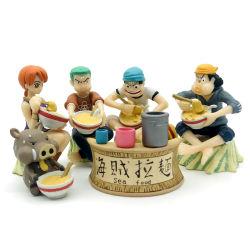 تخصيص 3D PVC Cartoon الرسوم المتحركة نموذج الغذاء رسوم البحر رسوم القراصنة شكل حركة على طريقة الرامين