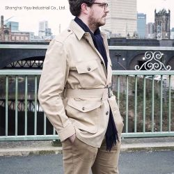 Handmade Menswear Mens 재킷 남자 원정 여행 재킷을 예약했다