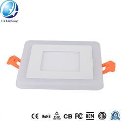 6W+3W carré couleur de lumière LED pour panneau double