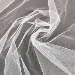 100% poliéster transpirable en tejido de malla hexagonal de tul Hard Net para vestir velo