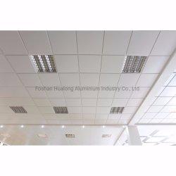 平らで白いティーの偽の天井T棒が付いている天井置のアルミニウム