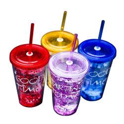 De nieuwe Kop BPA van de Flits van de Manier Transparante Vrije Plastic met Stro