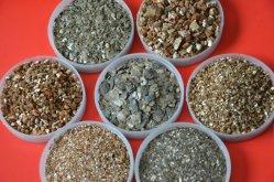 Het gouden en Zilverachtige Uitgebreide Erts van het Vermiculiet van het Vermiculiet