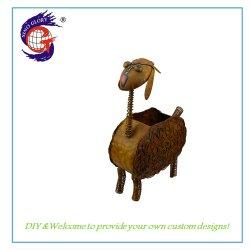 홈 가뜰닝 러스티 양 동물형 플라워 플래터 포트 장식 포트