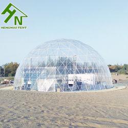 China prefabricados 30m Domo exterior de plástico transparente para la venta Tienda eventos