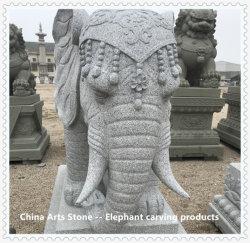 Estatua de tallado de elefantes para la decoración de jardín