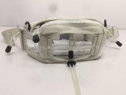 Cuero de microfibra de PVC Invisible Extractor de Zip Bolsa de la correa pequeña Unisex