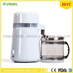 Les soins dentaires de l'eau pure de distillateur de purificateur de filtre en acier inoxydable/Cap Bouteille de verre 4L