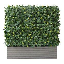 Haut ornement de plein air en plastique de vente de l'herbe buis artificiels pour la décoration du semoir