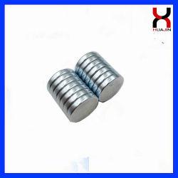 N35 N42 N50 Imán disco con el recubrimiento de zinc 12*2mm