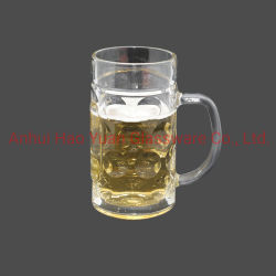 1L de transparante Mok van het Bier van het Glas van de Stenen bierkroes van het Bier met Handvat kan worden aangepast