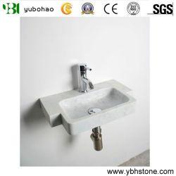 Shanxi noir/blanc/jaune égyptien de Carrara les lavabos, petit bassin en pierre naturelle