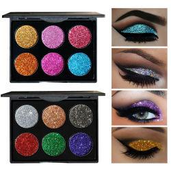 Funkeln-Augen-Schatten-Paletten-Diamant-goldenes Farben-Puder-glänzende Augenschminke