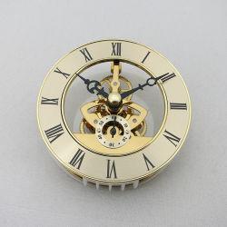 O movimento do esqueleto metálico de montagem da bateria de quartzo Ouro Relógios Esqueleto Romana