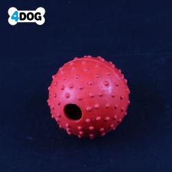 Animais de brinquedo bola de borracha macia para cães, Non-Toxic resistente a mordidas encaracolados suave a esfera de borracha com Jingle Bell dentro, exercício de pet jogo Ball Iq Bola de treinamento