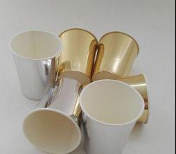 48pcs Gold/Silver vaisselle ordinaire les tasses de papier pour mariage