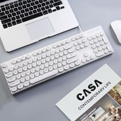 단순하고 세련된 울트라 씬 UV 캐릭터 플러그 앤 플레이 PC 및 노트북용 유선 키보드