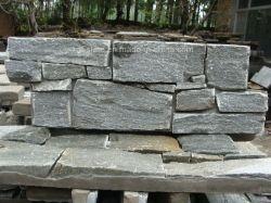 Специализирующимися природных серый/серого сланца конкретные культуры Стены из камня с цементом назад