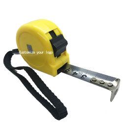 3mの黄色い自動ロックのステンレス製の引き込み式の鋼鉄巻尺のツール