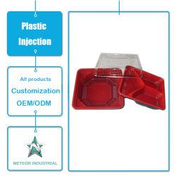 Vasellame monouso personalizzato plastica contenitore per alimenti veloci scatola di plastica Stampaggio ad iniezione