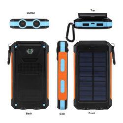 À prova de 20000mAh banco de Energia Móvel IP67 Carregador Solar com bússola