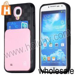 Einbauschlitz TPU+PC Back Cover Fall für Samsung Galaxy S4 I9500 (Pink)