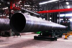 Спираль трубы диаметром 219~2500SSAW антикоррозионную обработку поверхности