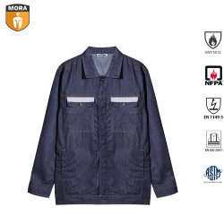 Het Openlucht Vuurvaste Denim Workwear van de veiligheid met hallo Vis