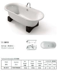 Beine brachten einfache Badewanne mit Hahn an (BG-3015)