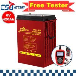 Csbattery Backup-Energy 6V420ah batterie gel pour Vell/ATV/Gel/loisirs/marine/Type/Cranking-Boat/Chariot élévateur à fourche/ali