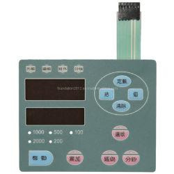 Superposition de graphiques Sérigraphie interrupteur à membrane de commande du circuit électrique