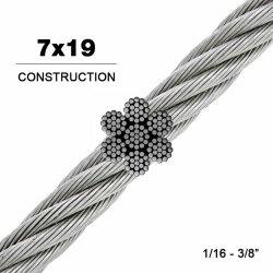 가격이 316 7X19 스테인리스 스틸 와이어 케이블