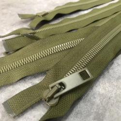 Custom Hars Nikkel Brons Aluminium Messing Tanden Olive Green Rits Voor Bagage