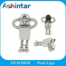 Disque flash USB en métal Robot Pendrive Memory Stick USB