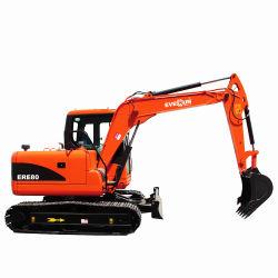 Everun 8ton ere80 China excavadora sobre orugas Medio Medio Pala excavadora ruedas excavadora hidráulica Máquina con el precio de fábrica barata