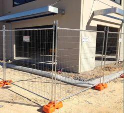 Australia 2.1X2.4m Construcción temporal cercas de malla de alambre galvanizado