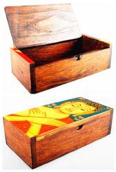 Caja de almacenaje de madera del almacenaje del Buddhism santo (WB-073)