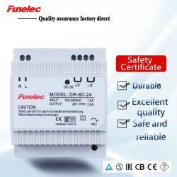 60W 24V 2.5A AC для постоянного тока промышленной модели Dr-60-24 DIN коммутации источник питания 24 Вольт 2,5 ампер светодиодный индикатор питания драйвера