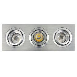 Torno Aluminio GU10 MR16 Multi-Ángulo 3 Unidades Cuadrado Tilt Empotrado LED Down Light (LT2301-3)