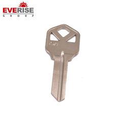 Schlüssel mit dem materielles Messingnickel überzogenen Leerzeichen verwendet für Tür