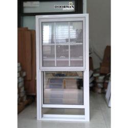 Novo Design de preço estilo americano de alumínio de translação vertical quebra térmica preta Simples e Dupla de madeira sólida travou janelas de guilhotina