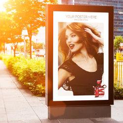 Publicité de plein air électronique unique Roadside Lightbox